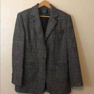 Grey Blue Ralph Lauren Blazer Petite Size 6P